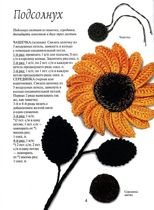 b Вязаные цветы /b в интерьере и одежде.
