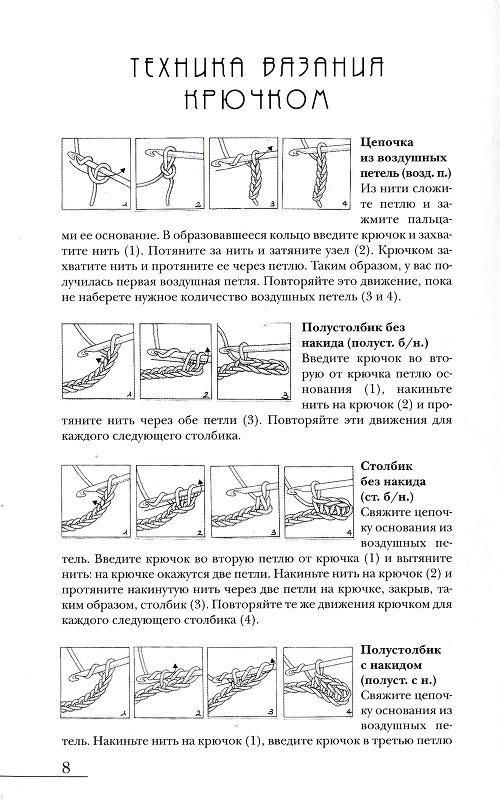 Техника вязания крючком общие
