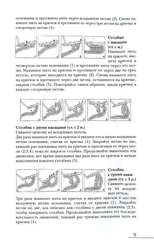 371Вязание крючком схемы лебедей с описанием