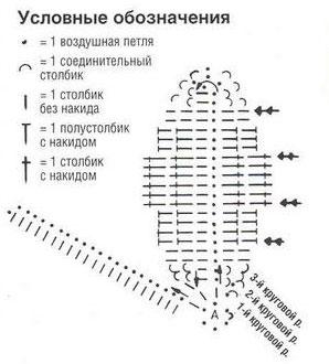 схема вязания белые лилии